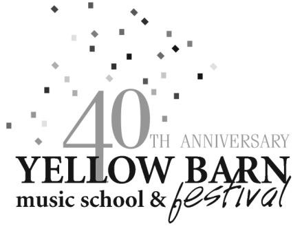 Yellow Barn Festival Concert Saturday 8 August (8:00