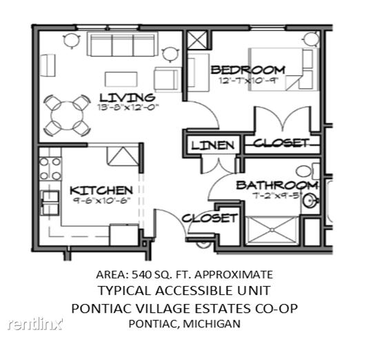 Pontiac Village Estates Co-op Senior Apartments (1200