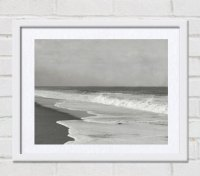 Black White Coastal Art Print