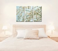 Three Panel Gallery Wrapped Canvas | Cherry Blossom Tree ...