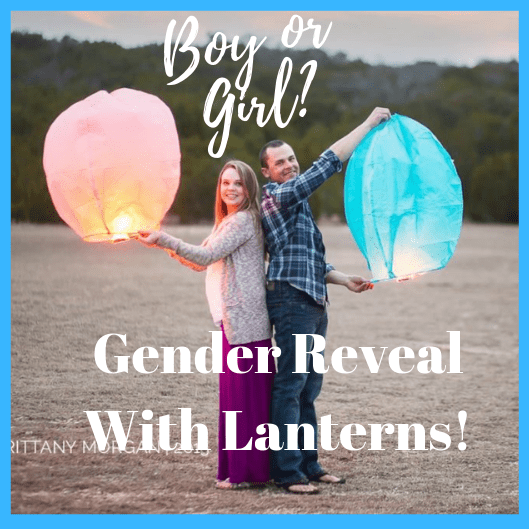 Gender Reveal With Lanterns!