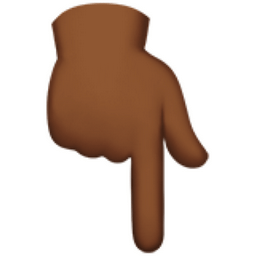 Image result for emoji pointing down
