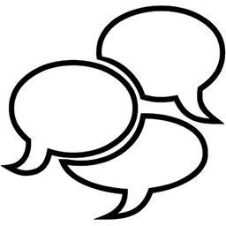 Three Speech Bubbles Emoji (U+1F5EB)