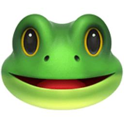frog face emoji u