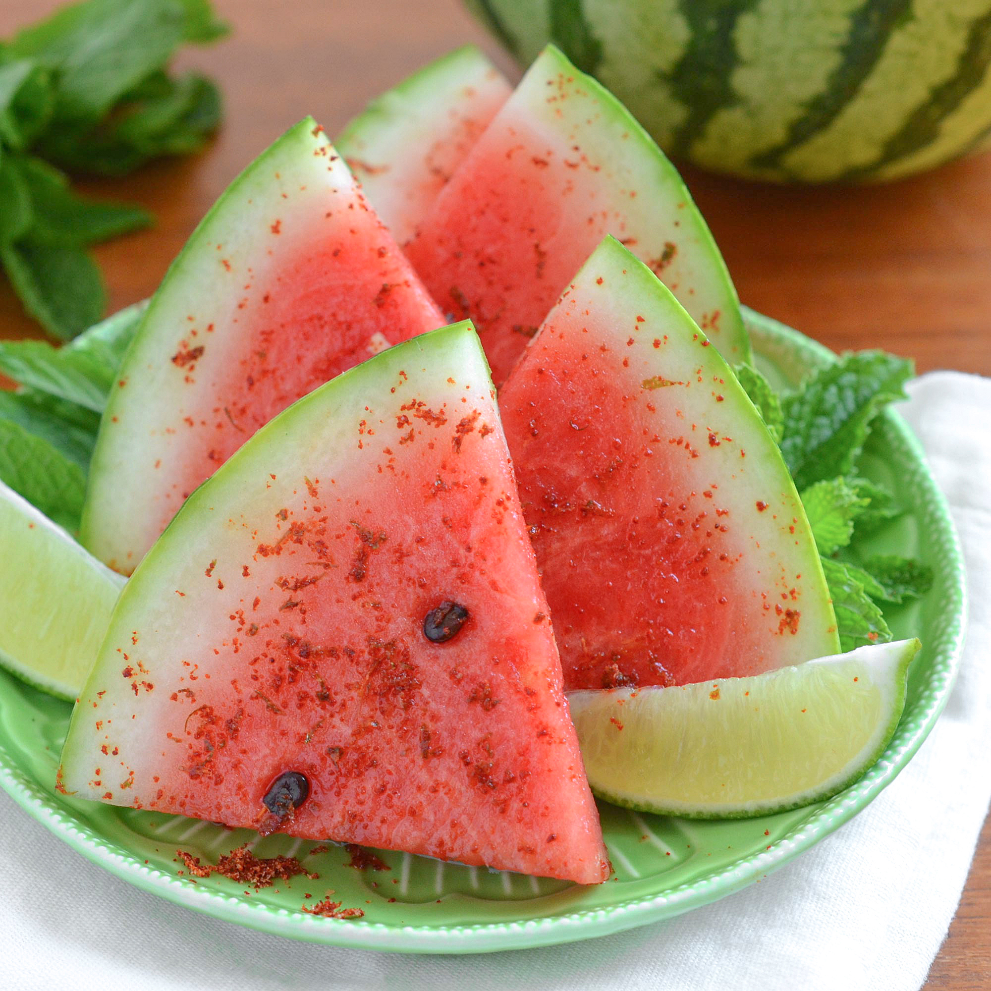 watermelon with chile salt
