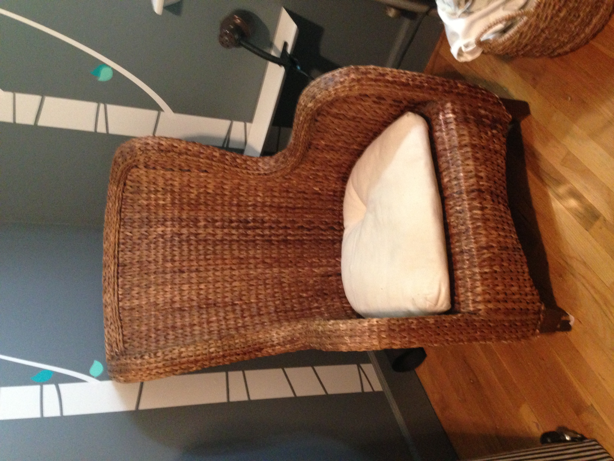 Pottery Barn Wicker Chair Pottery Barn Seagrass Wicker Wingback Chair Apartment