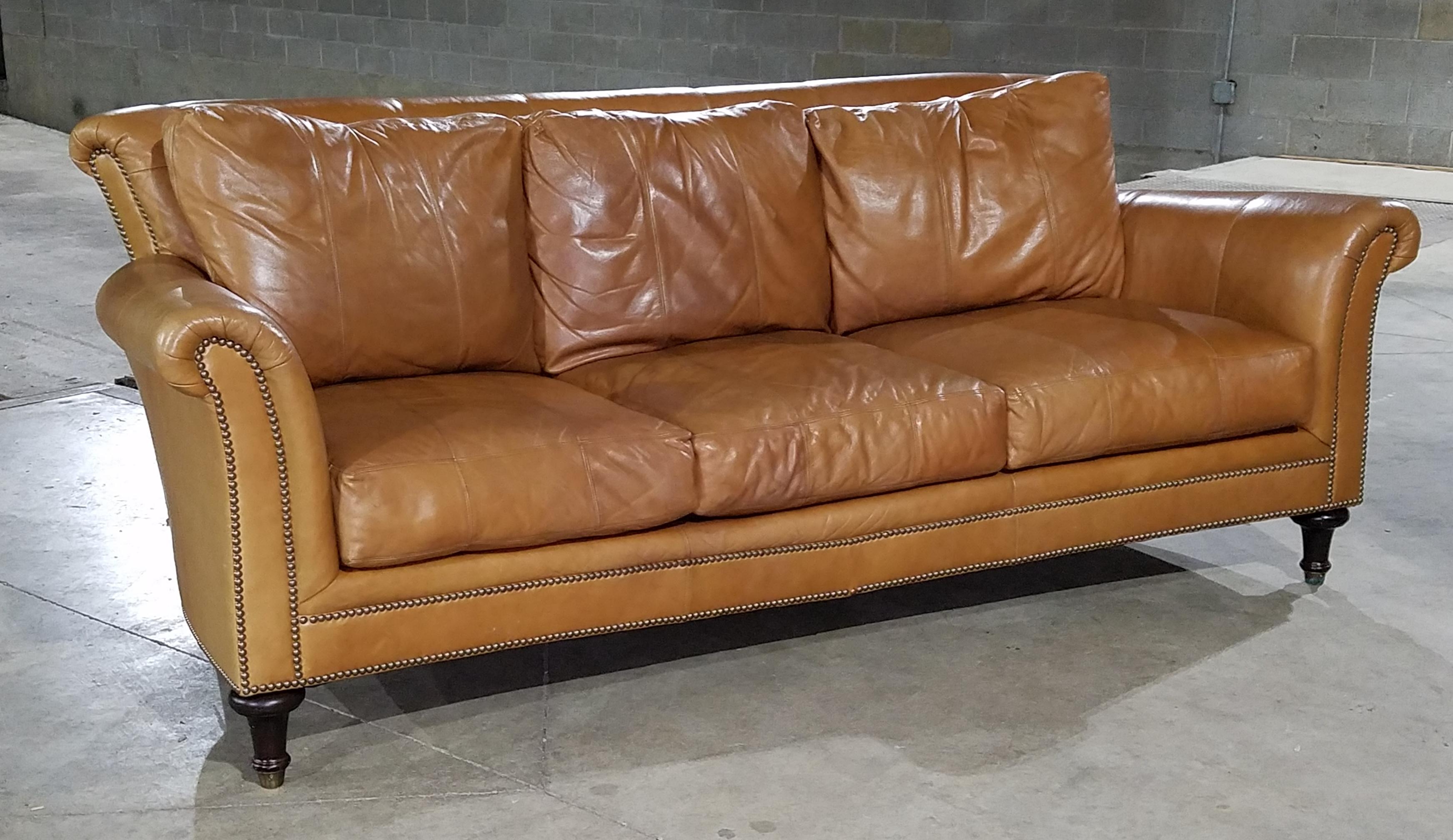 ferguson copeland leather sofa traditional chaddock surrey apartment
