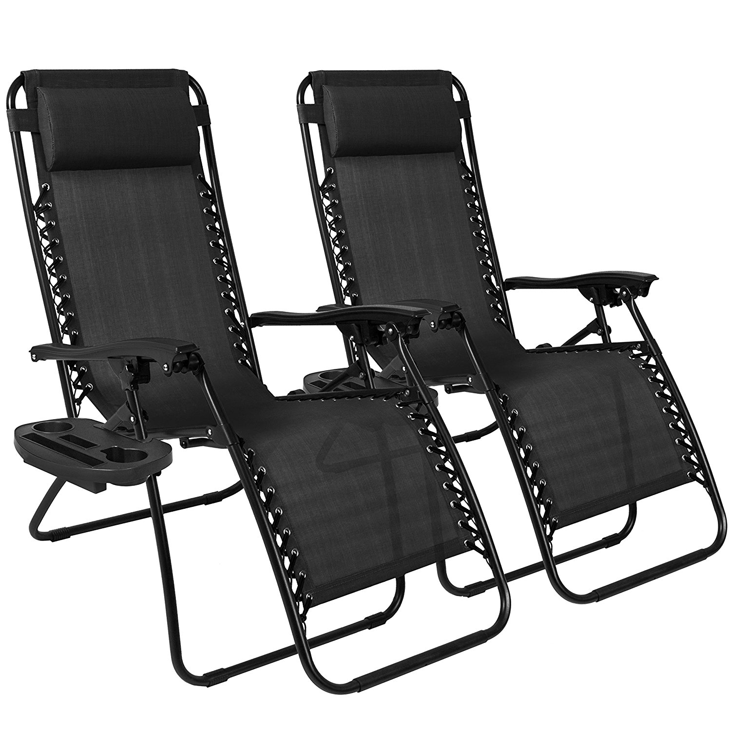 Gravity Lounge Chair New 2pc Zero Gravity Patio Lounge Chairs