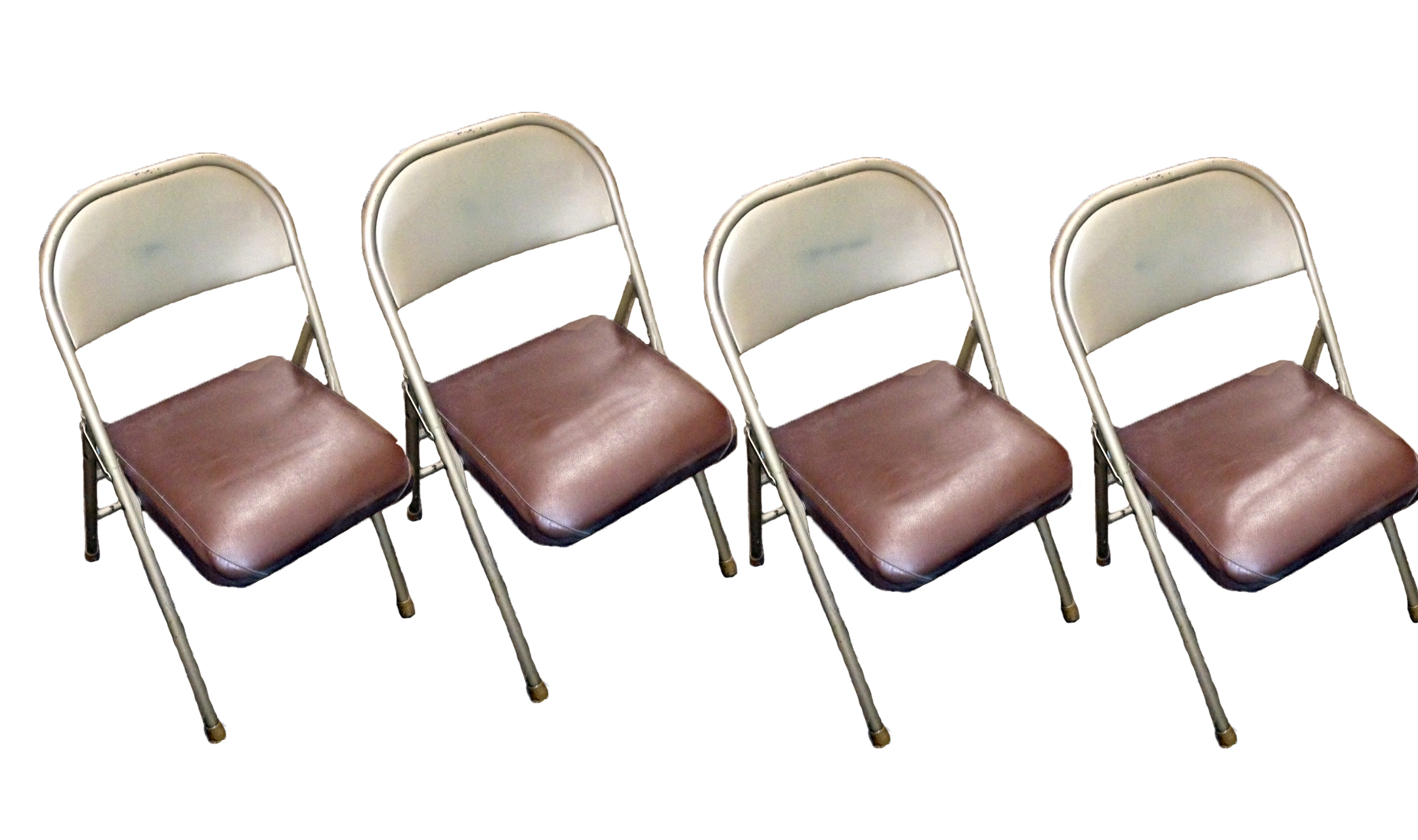 krueger folding chairs chair covers elastic industrial metal set of 4 apartment therapy s bazaar