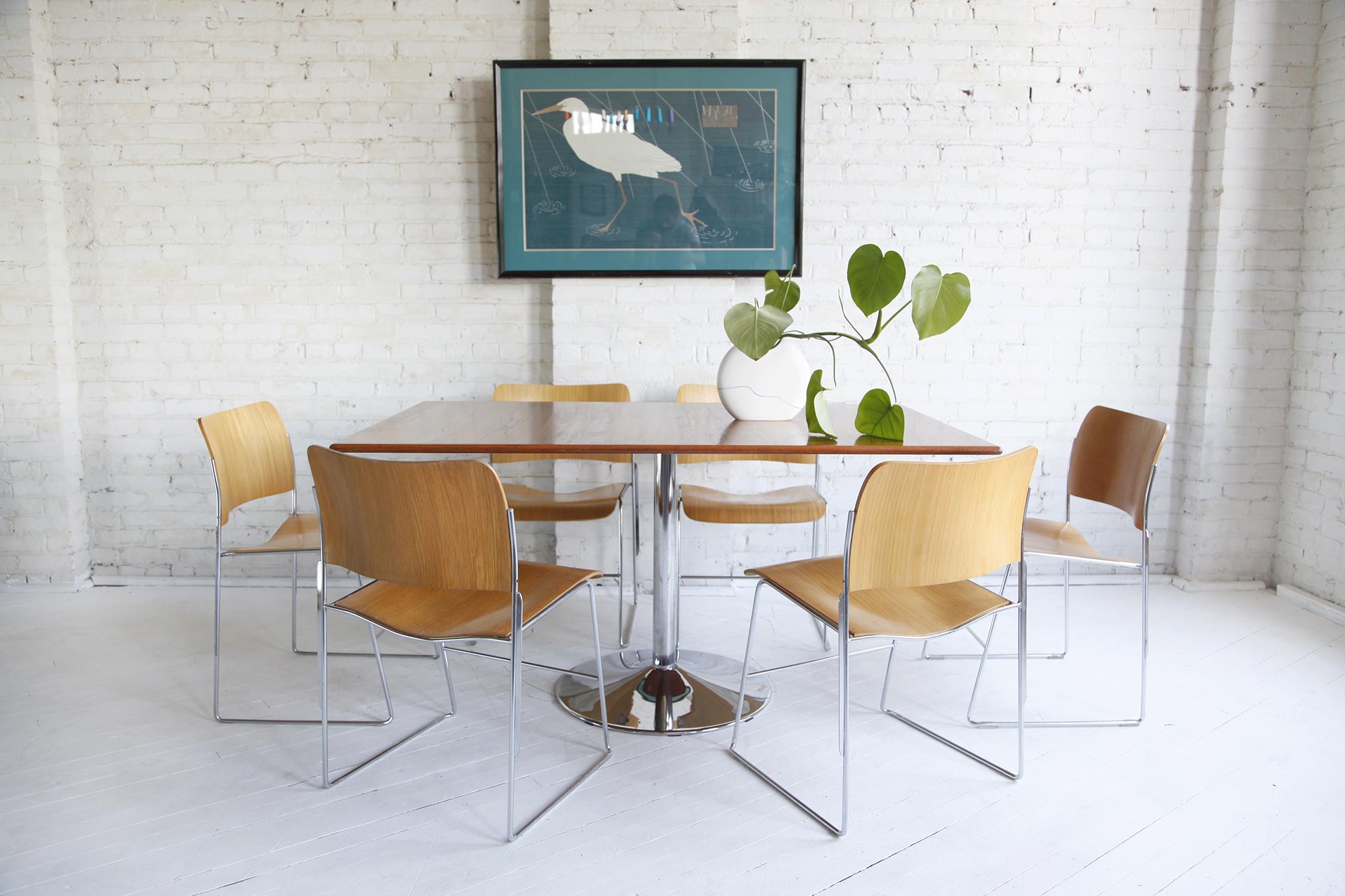 Set Of Midcentury Modern David Rowland 40 4 Chairs