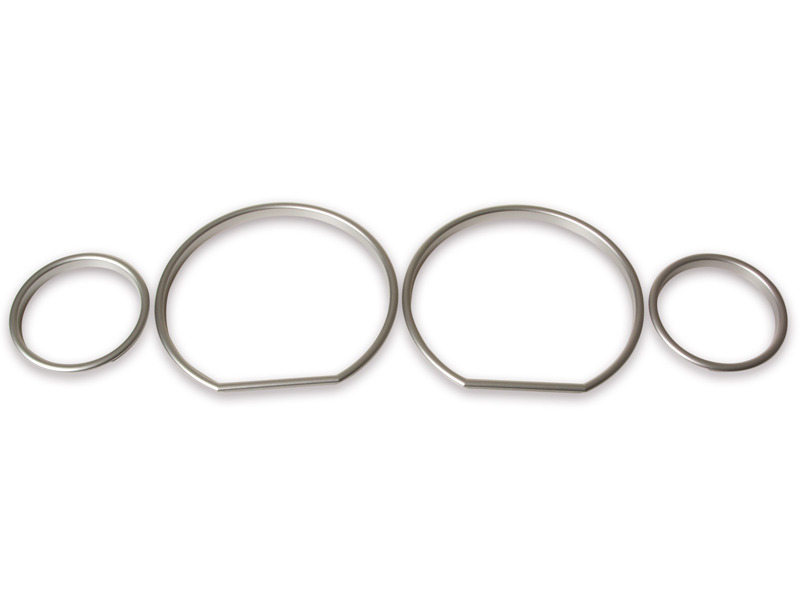 Cluster Dashboard Dial Gauge Rings Silver For BMW 3 Series