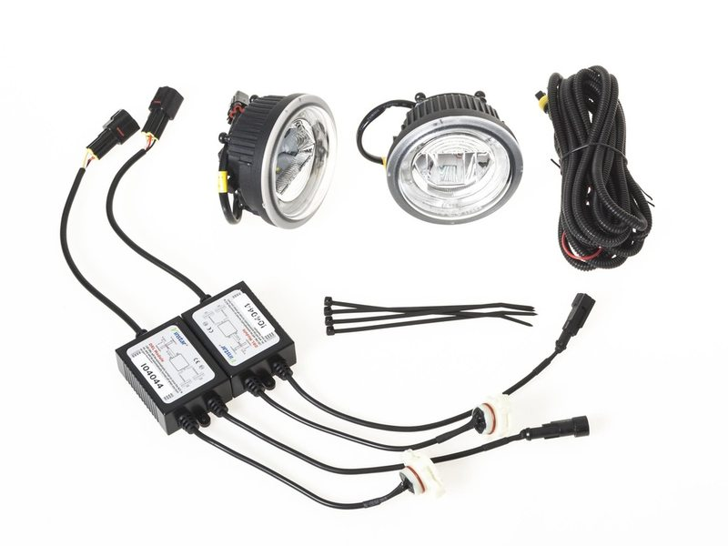 * Clear LED Fog+DRL Light Halo Ring Wire Kit For Chevy