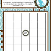 brown blue bingo
