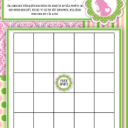 green and pink bingo