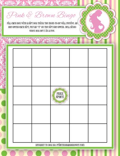 green and pink bingo