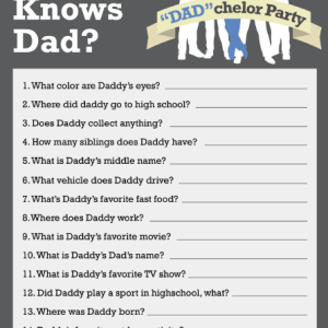 Who Knows Daddy?