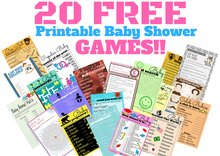 20 Free Printable Baby Shower Games Your Guests Will Love!