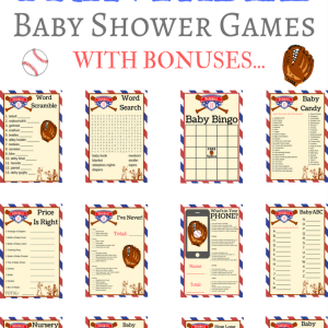 printable baseball baby shower games
