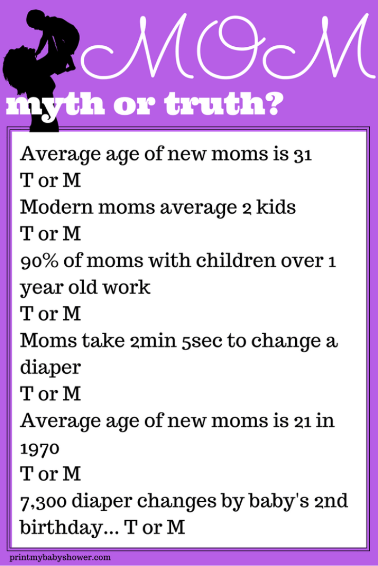 mommy myth or truth game