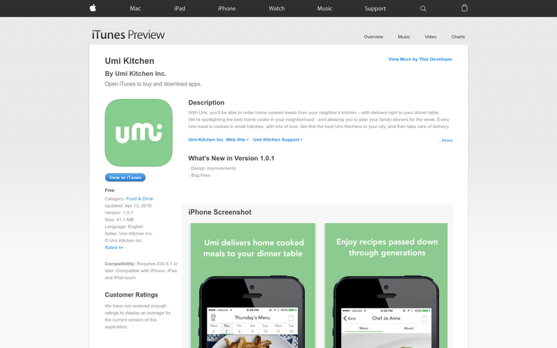 Umi Kitchen on the App Store  AngelList