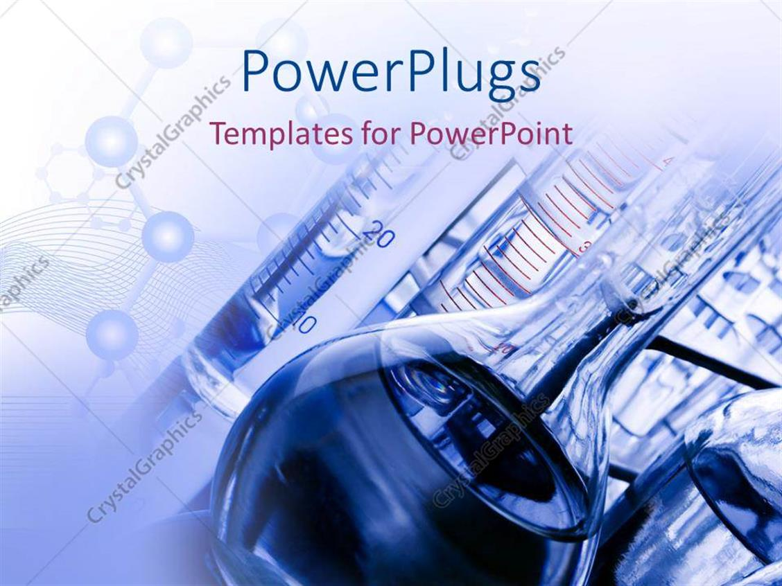 Powerpoint Template Laboratory With Chemicals And Test