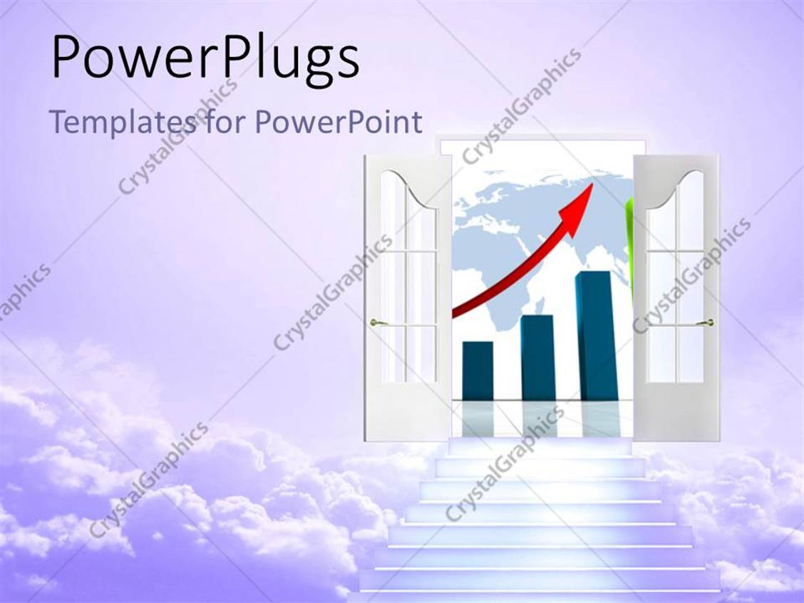 hight resolution of powerpoint template displaying stair to