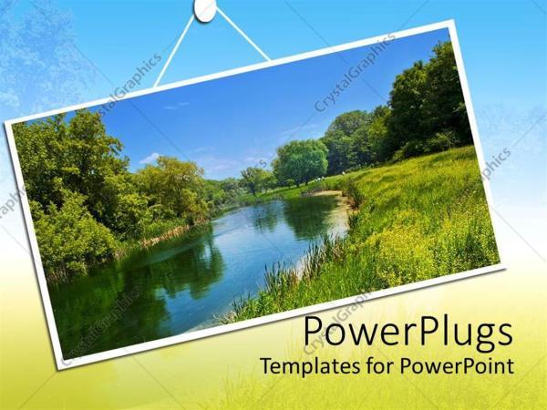 powerpoint template summer landscape