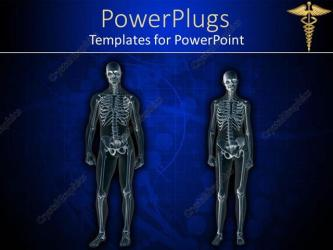 human body anatomy powerpoint female template templates medical male rayed background corner dark sign