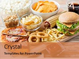 Food PowerPoint Templates w/ Food Themed Backgrounds