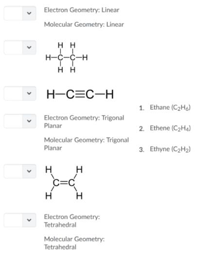 C2h2 Lewis Structure Molecular Geometry : lewis, structure, molecular, geometry, OneClass:, Ethane, (C2H6),, Ethene, (C2H4),, Ethyne, (C2H2), Consist, Carbon, Atoms, Diff...