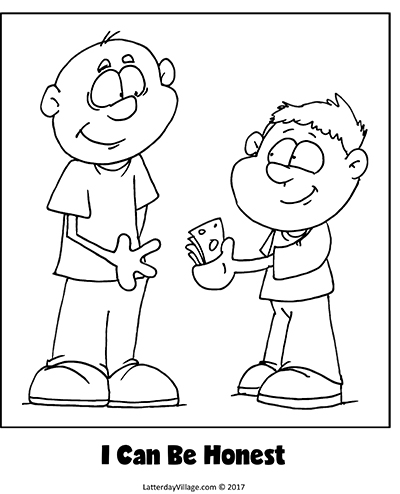 Honesty Coloring Page Home Sketch Coloring Page