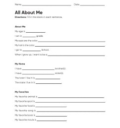 All About Me Activities for Elementary \u0026 Middle School - Houghton Mifflin  Harcourt [ 2200 x 1700 Pixel ]