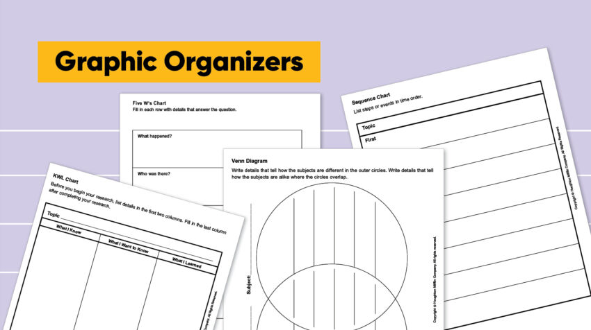 Keep track of your word webs in a notebook so that you can refer to them any time you need to check a word's meaning. Free Graphic Organizer Templates Houghton Mifflin Harcourt