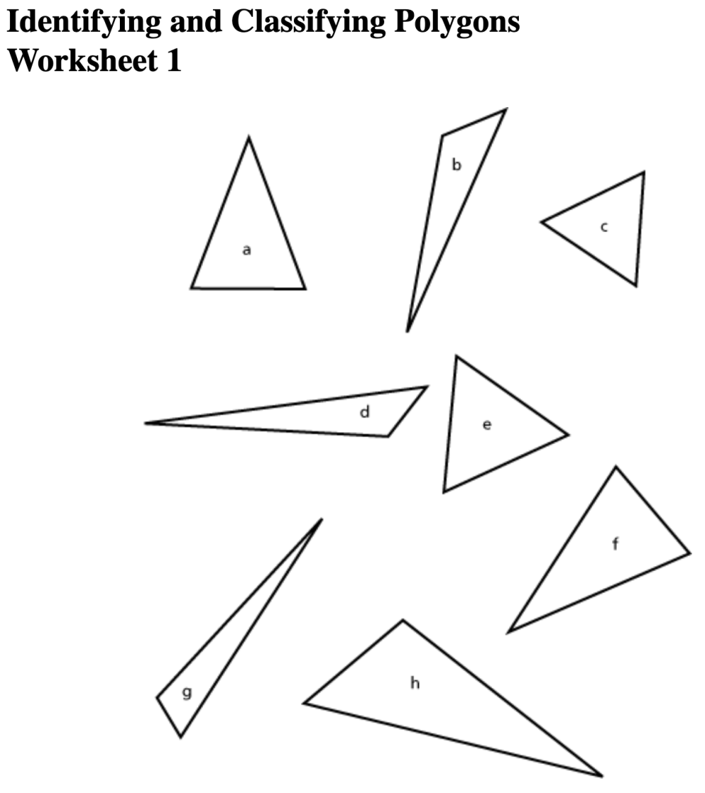 medium resolution of Worksheet On Polygons   Printable Worksheets and Activities for Teachers
