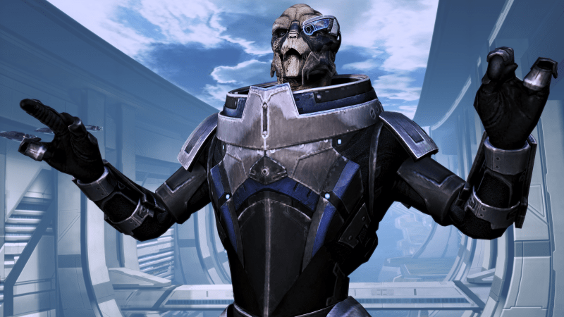im garrus vakarian and this is now my favorite spot on the citadel