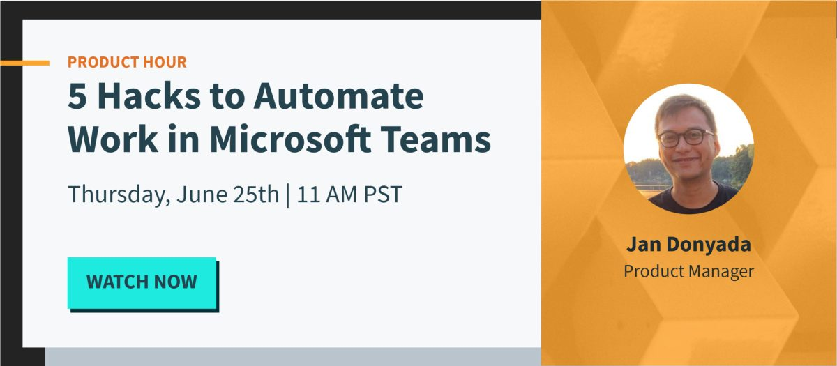 Promo for Product Hour - MS Teams