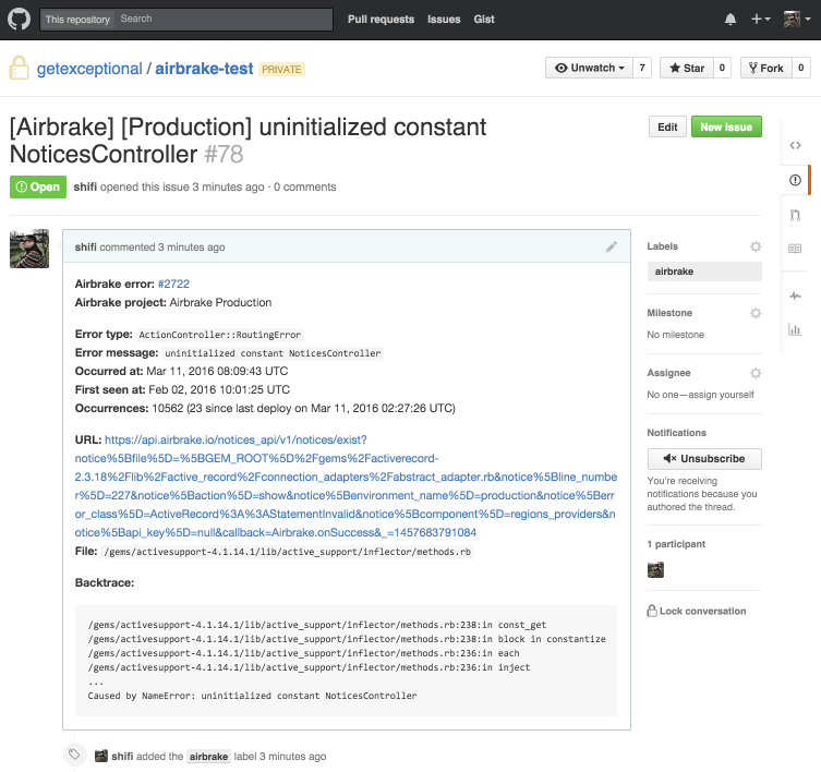 New Github Enterprise Integration