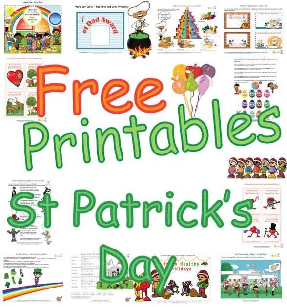 Kids St Patricks Lucky Greens Page