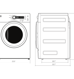 model dcvh480ekww ge 4 0 cu ft capacity electric dryer [ 900 x 900 Pixel ]