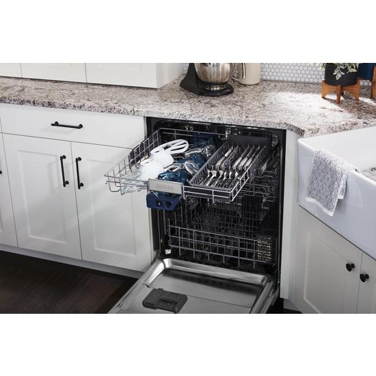 top control dishwasher with third level