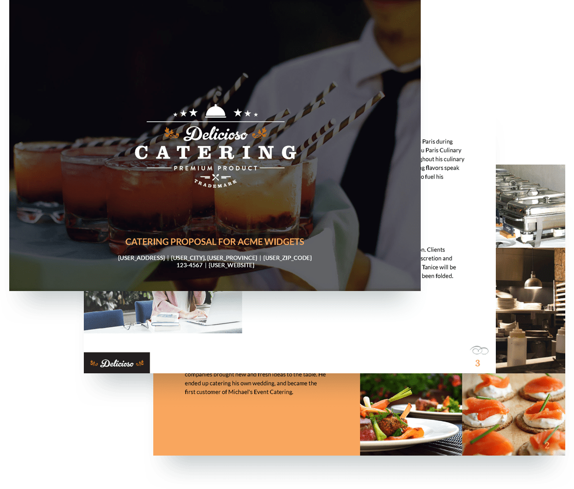 Catering Proposal Template Free Sample