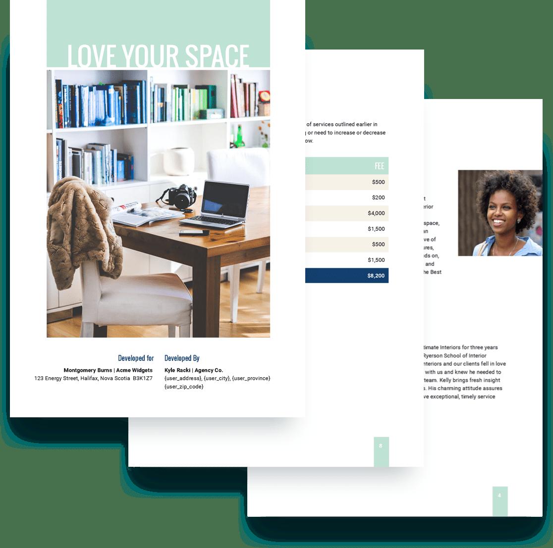 Interior Design Proposal Template Free Sample