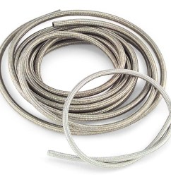 braided steel oil and fuel hose 25 ft roll stainless steel braided hose is easy to cut and fit an improvement in appearance over the more common six wire  [ 1524 x 1012 Pixel ]