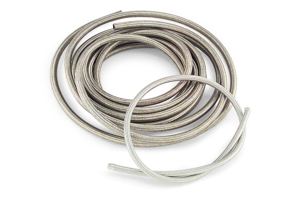 medium resolution of braided steel oil and fuel hose 25 ft roll stainless steel braided hose is easy to cut and fit an improvement in appearance over the more common six wire