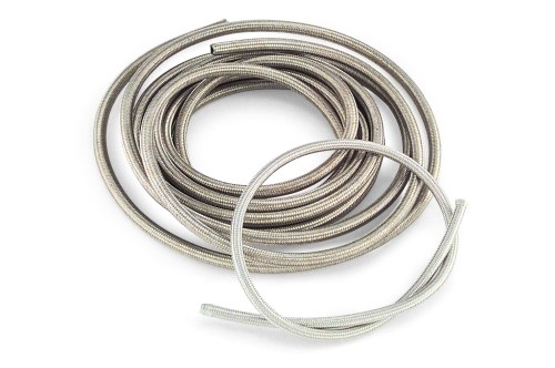 small resolution of braided steel oil and fuel hose 25 ft roll stainless steel braided hose is easy to cut and fit an improvement in appearance over the more common six wire