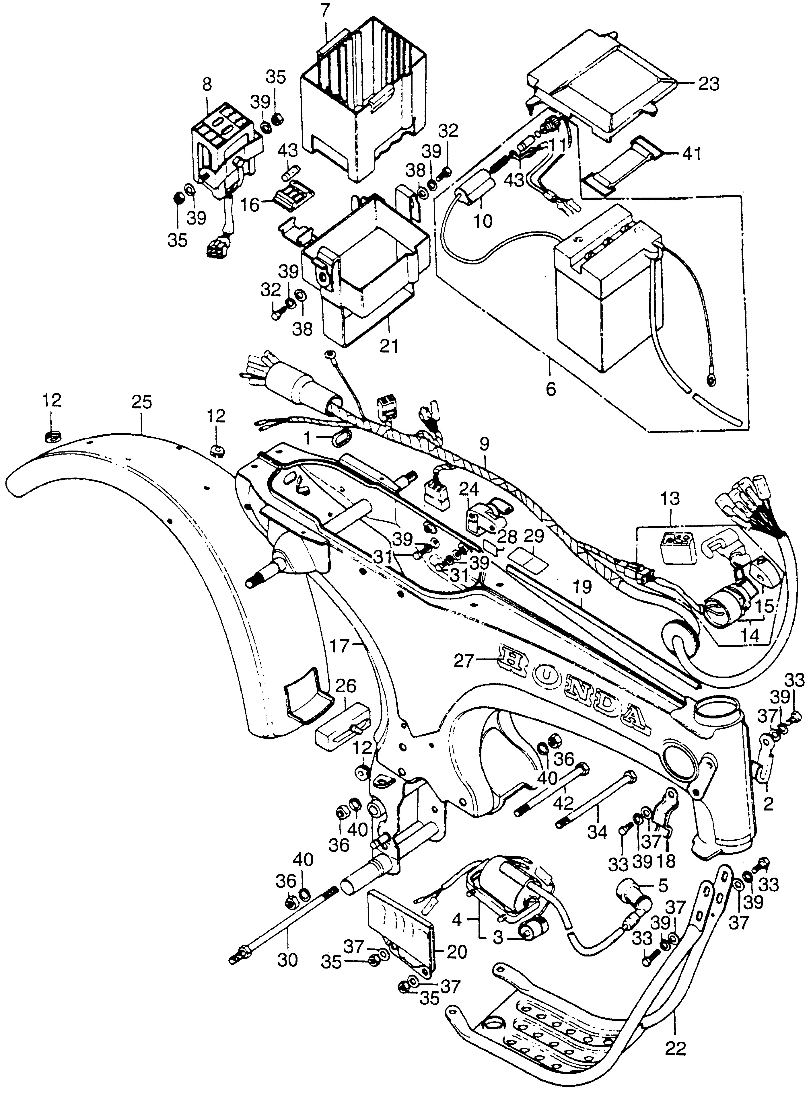Enlarge 1973 st90 frame wire harness