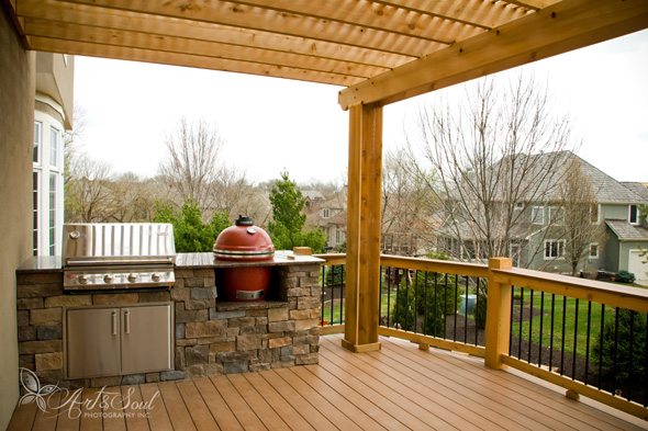 how much does an outdoor kitchen cost formica countertops spaces for life a deck azek with in leawood built by retouch