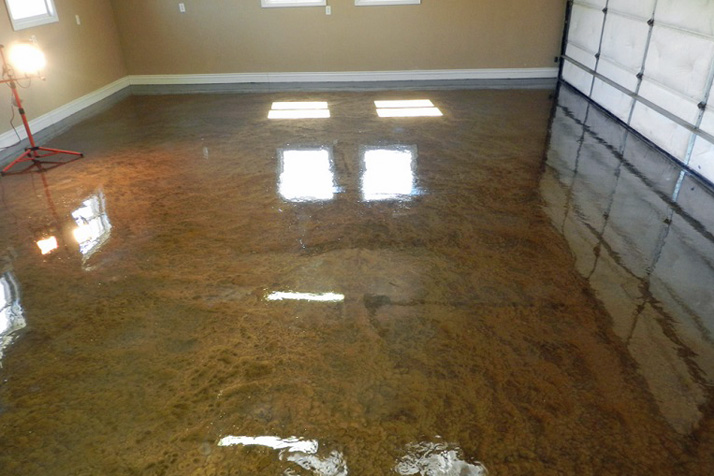 New metallic epoxy flooring a game