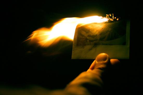 Image result for burning polaroid