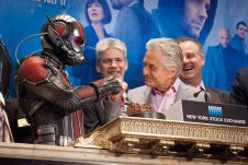Michael Douglas, star of Marvel Studios' Ant-Man, joined Marvel Entertainment executives, in ringing the NYSE Closing Bell® to highlight Marvel Studios' eagerly-anticipated next movie event Ant-Man which opens in theaters nationwide Friday, July 17, 2015